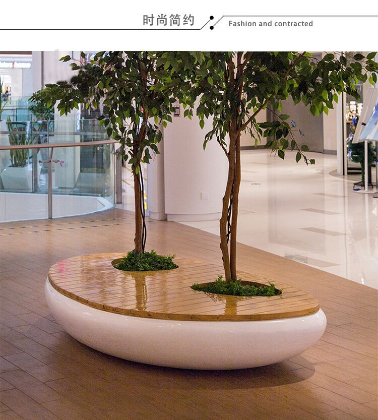 Tree Pot Seat Style No.6 - Twin Pits with Wooden Surface