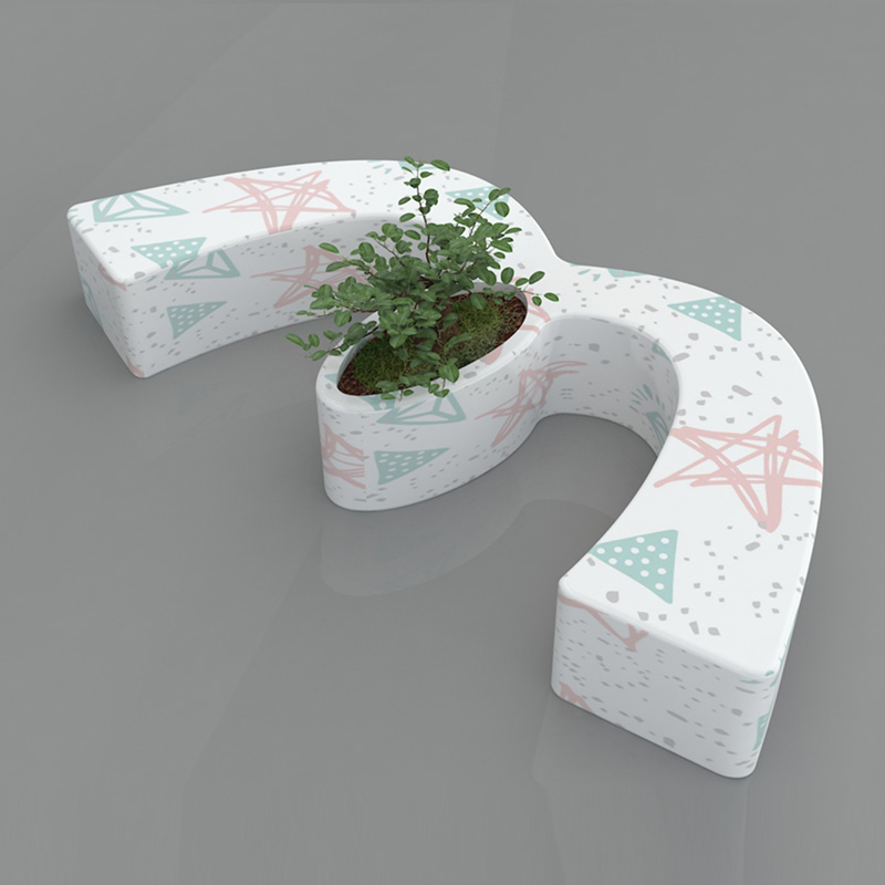 Tree Pot Seat Style No.16 - M Shape